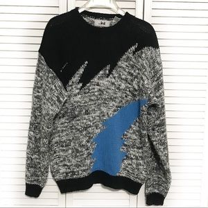 Jed 80's Vintage Long Sleeve Abstract Sweater